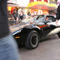 David driving KITT to press event